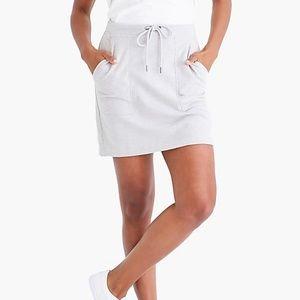 NWT J.Crew Gray Terry Skirt Plus Size 2X